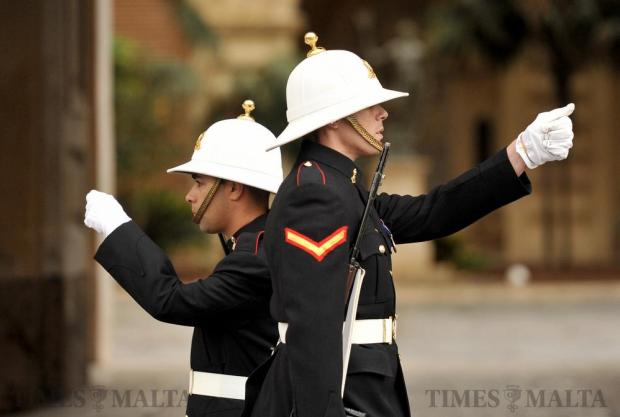 Guards parade outside the Grand Master's Palace in Valletta on November 16. Photo: Chris Sant Fournier