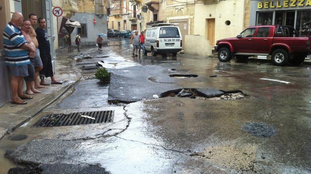 Road damage in Birkirkara - Gayle Lynn Callus - mynews@timesofmalta.com