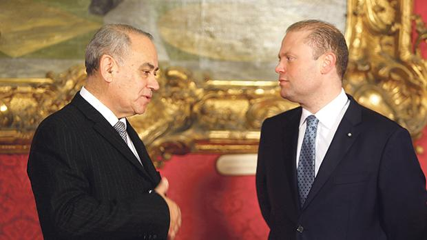 Ombudsman Anthony Mifsud (left) with Prime Minister Joseph Muscat. Photo: Darrin Zammit Lupi