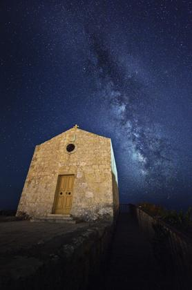 The Milky Way over St Magdalene Chapel, Dingli Cliffs.