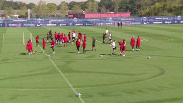 Watch: PSG trains ahead of Liverpool clash