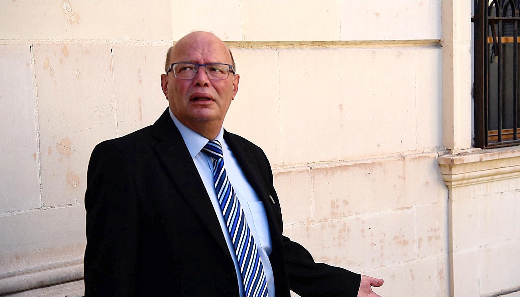 Lawrence Cutajar leaving court. Photo: Mark Zammit Cordina