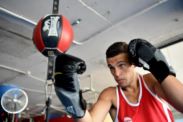 Maltese Boxer Miquel Cauchi hopes to be Malta's first Olympic boxing representative, at a gym in St Julians on July 14. Photo: Mark Zammit Cordina