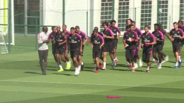 Watch: PSG train on eve of match against SM Caen | Video: AFP