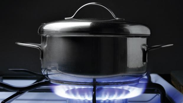 Mercaptan is added to butane or propane gas used for cooking and heating so as to attract attention with a permeating smell when gas escapes unlit.