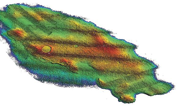 3D map of Sikka l-Bajda reef off Malta's northeast coast.