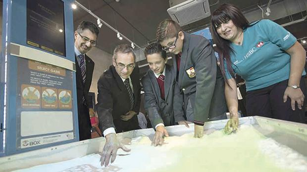 Nature Trust – FEE Malta CEO Vincent Attard and Water Management Minister Joe Mizzi with students during the launch.