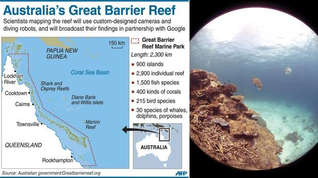 Barrier Reef Australia Map.Google Maps Of The Great Barrier Reef