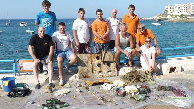 The team which took part in the clean-up.