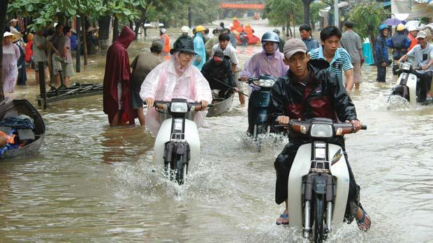 Rising sea levels could inundate coastal areas, such as Vietnam.