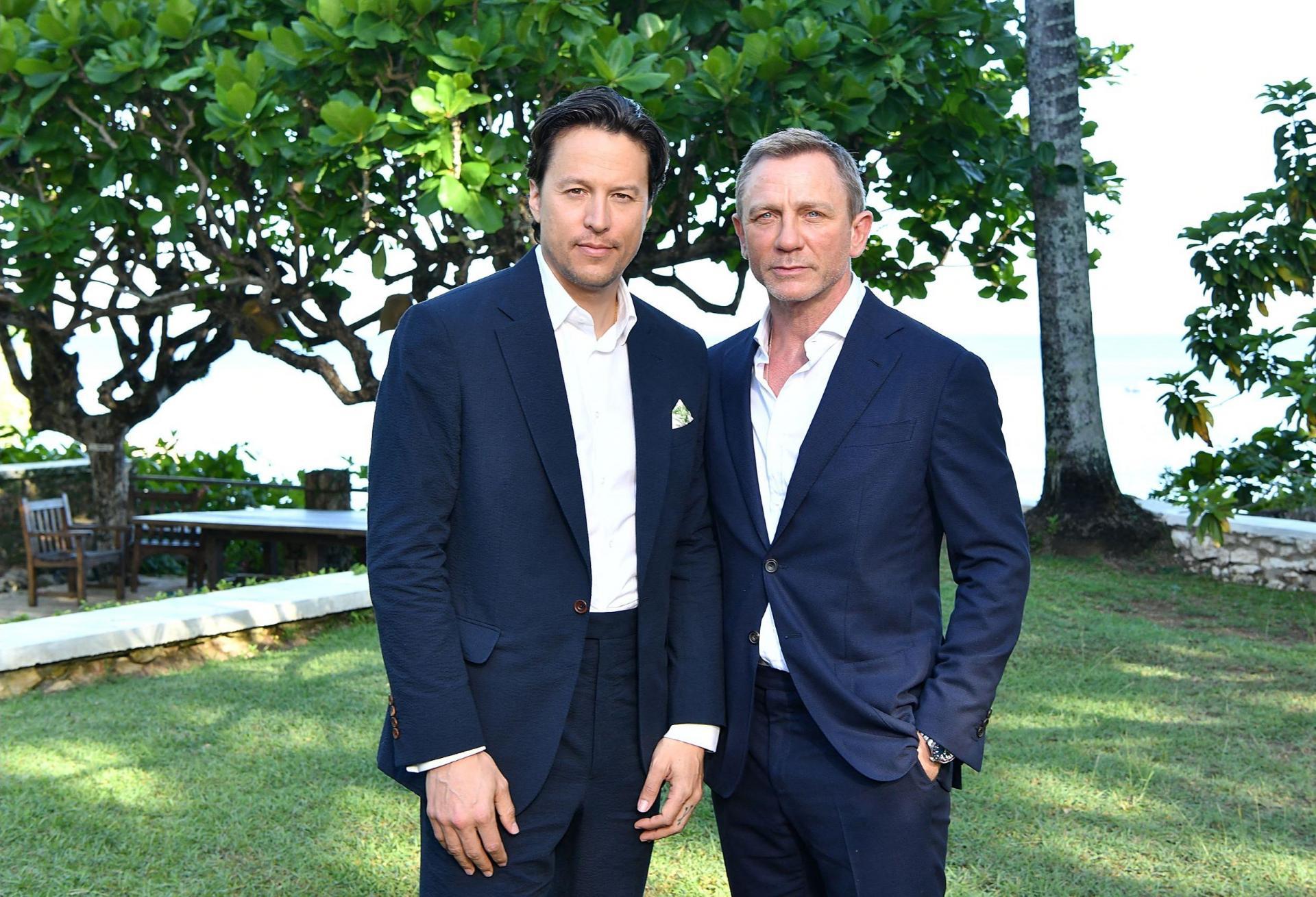 Director Cary Joji Fukunaga (left) and Daniel Craig. Photo: Slaven Vlasic/Getty Images North America/Getty Images via AFP.