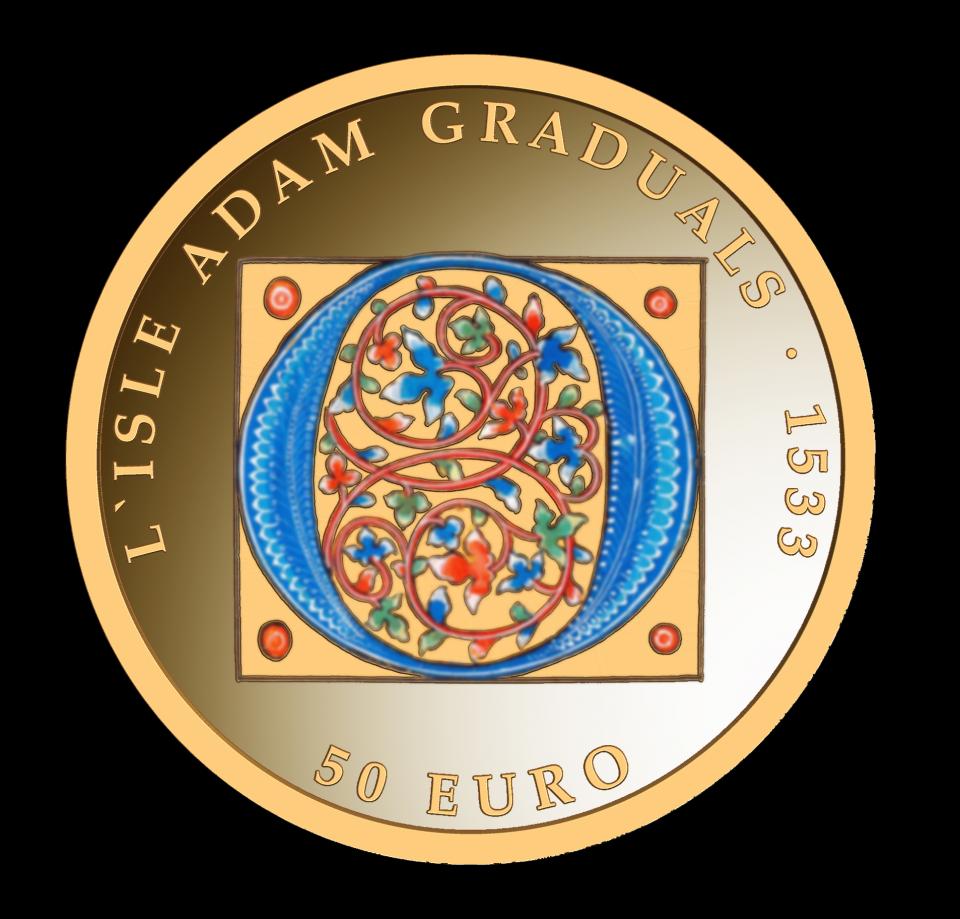 The gold coin. Photo: Central Bank of Malta
