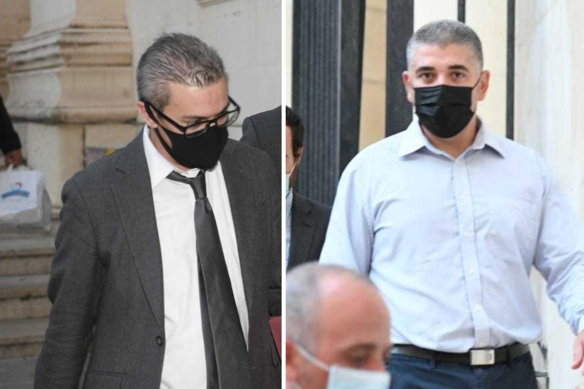 Anthony Farrugia, left, and Patrick Demanuele, right, also face money-laundering charges. Photo: Matthew Mirabelli