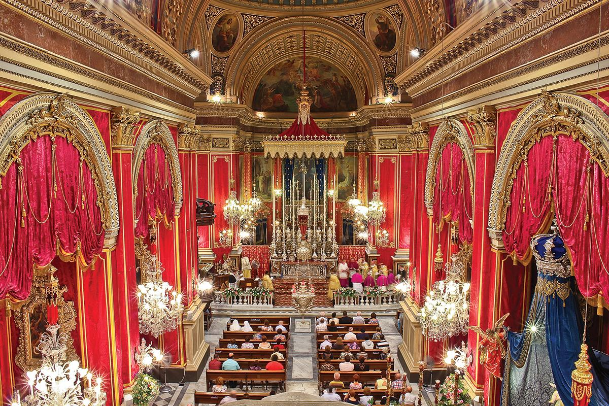 The Żabbar sanctuary as embellished by Mgr Zarb. Photo: Rayden Mizzi