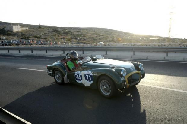 The Mdina Grand Prix gets under way with a hill climb at Mellieħa on October 8. The event, in its fifth edition, brings together 65 classic car owners, mostly from Malta, and Italy. Photo: Matthew Mirabelli