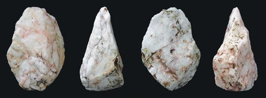 Stone tools found in southwestern Crete. Photo: Ministry of Culture/AFP