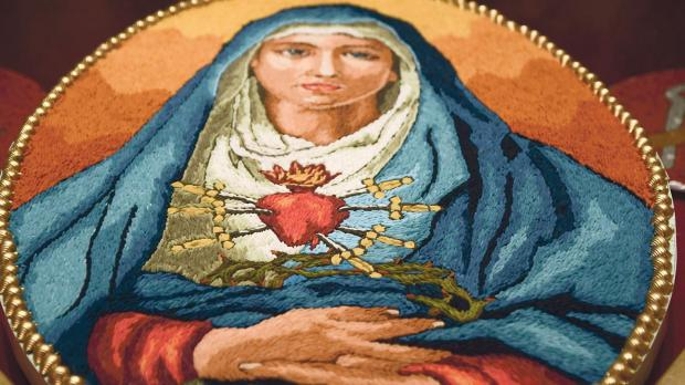 An image of the Seven Sorrows of the Virgin Mary