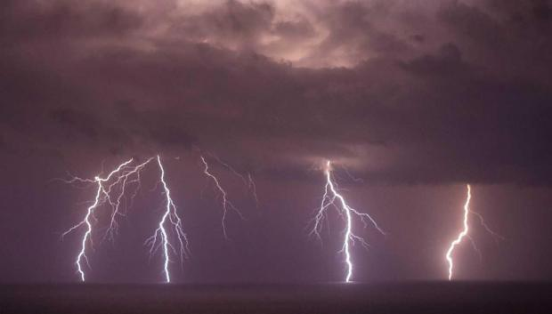 The night storm as seen from Gozo. Picture - Andrea Muscat