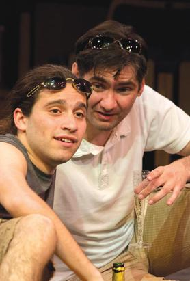 Philip Leone-Ganado (above left) and Malcolm Galea struggle to come to terms with their real identity in The Pride.