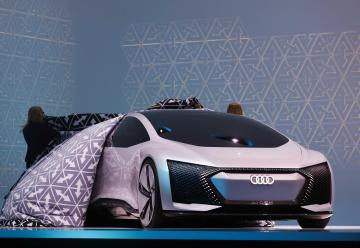 Unveiling the new Audi. Photo: Reuters