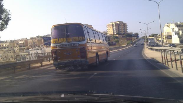 Were we better off with these? This photo was captured by a reader at around 5.30 p.m. this afternoon. The bus was heading towards Paceville.