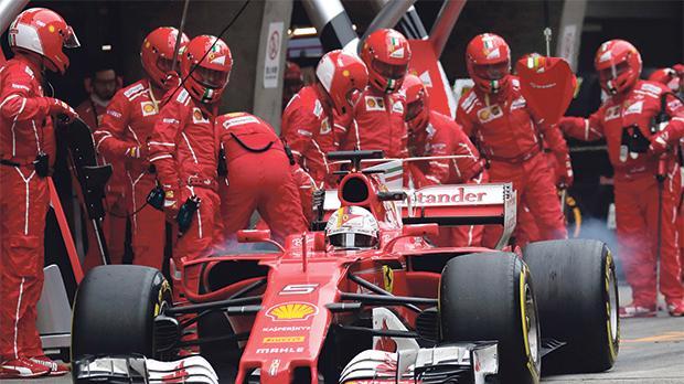 Sebastian Vettel is confident Ferrari will challenge Mercedes for the world title.
