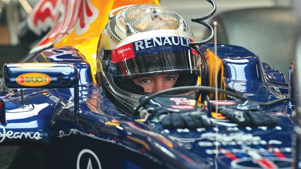 Red Bull driver Sebastian Vettel is in pole position to win the Formula One title.