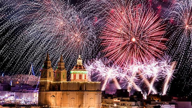 Mellieħa fireworks. Photo: Steve Congrave