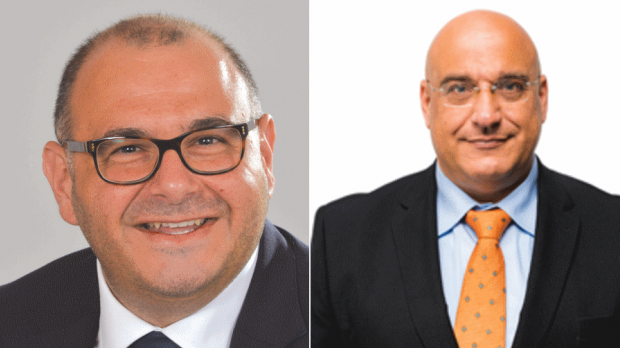 PL's Silvio Grixti (left) and the PN's Hermann Schiavone (right) will assume seats in parliament.