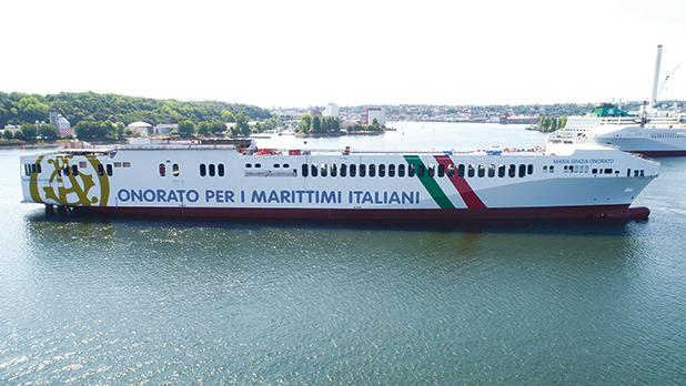 The Maria Grazia Onorato will be specifically assigned to the Genoa-Livorno-Catania-Malta route operated by Tirrenia.