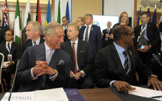 Prince Charles attends the Special Session on Climate Change at the Commonwealth Heads of State Summit at the Golden Sands Resort in Malta on November 27. Photo: Matthew Mirabelli