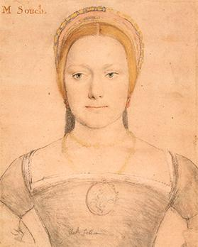 Young Woman in a French Hood, possibly Mary Zouch by Hans Holbein the Younger c.1533. Copyright: Royal collection trust her majesty Queen Elizabeth ii 2017.