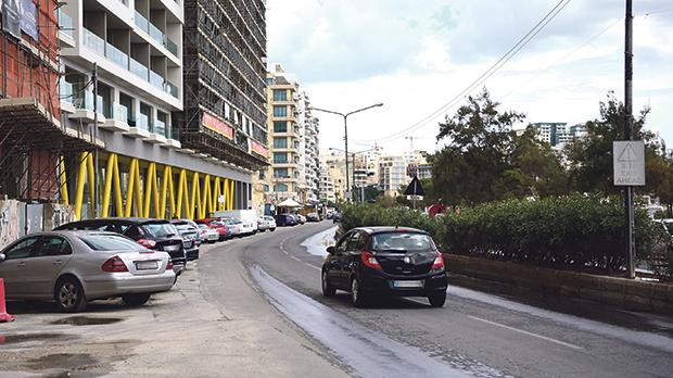 The Strand in Sliema will be blocked off today. Photo: Mark Zammit Cordina