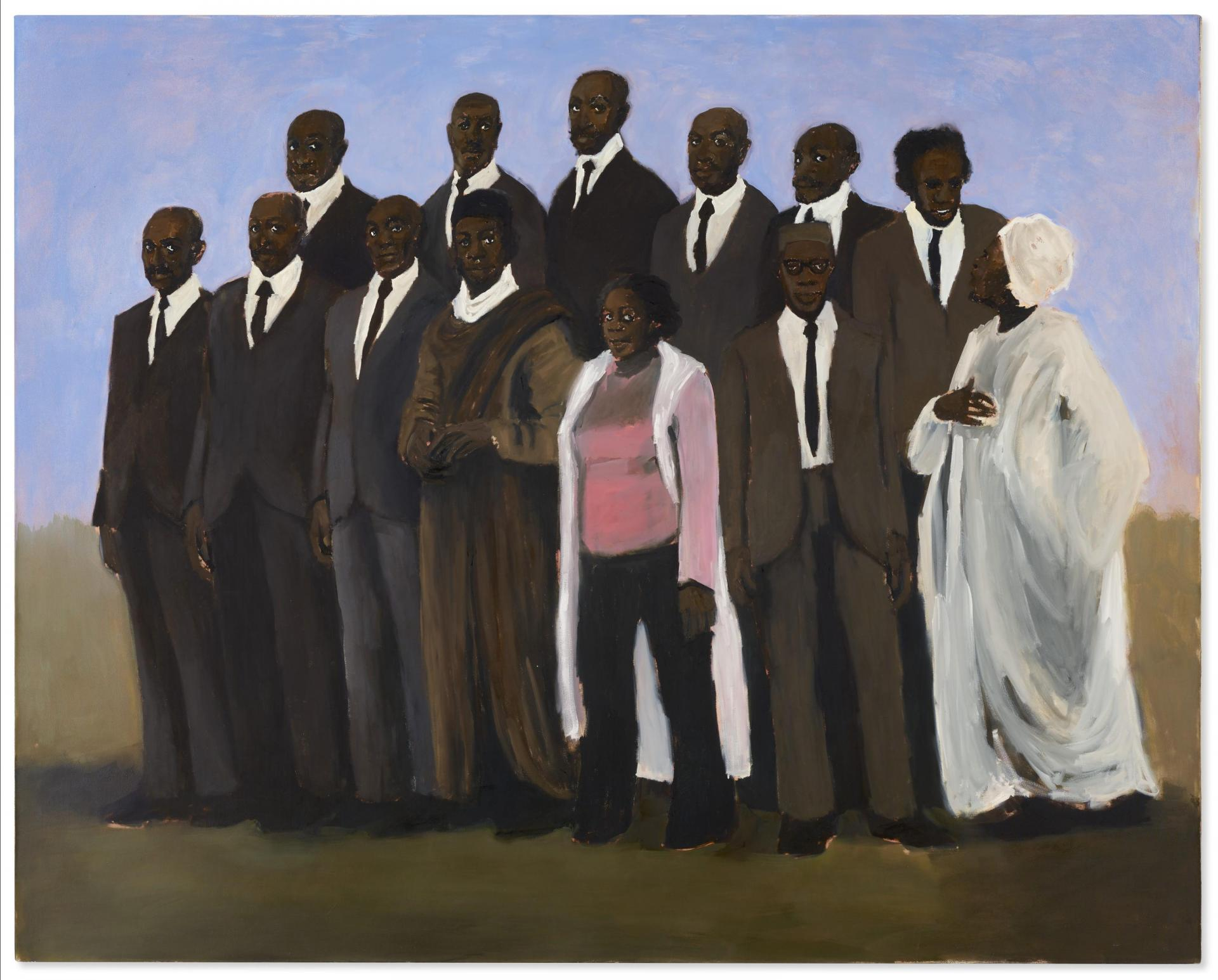 'Diplomacy III' by British artist Lynette Yiadom-Boakye was sold for $1.95 million on Tuesday. Photo: Christies.com