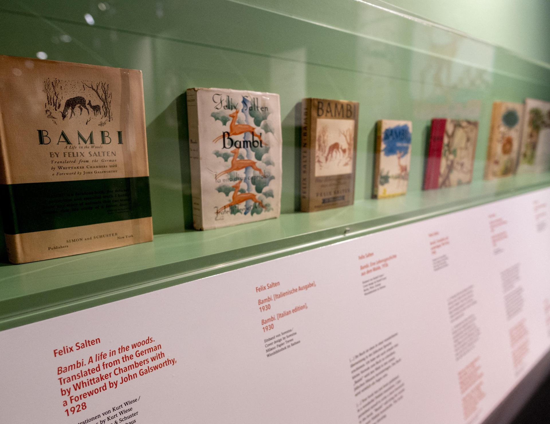 Various translations of the iconic tale 'Bambi: A Life In The Woods'.