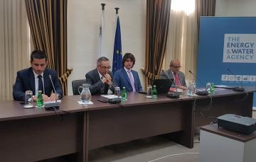 Minister Joe Mizzi (second from left) addressing the news conference.