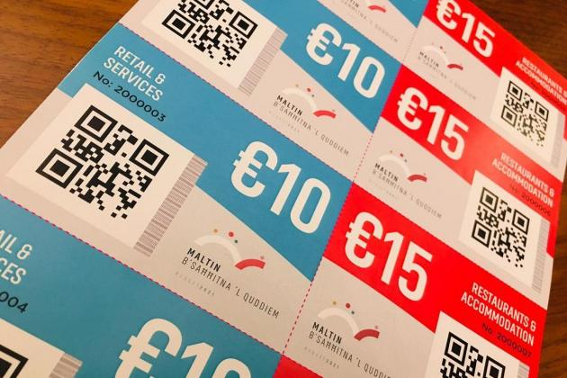 €20,000 in government vouchers collected for charity