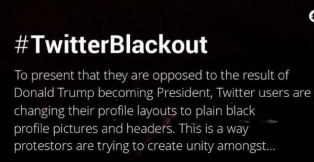 People are changing their profile pictures to black in protest of Trump