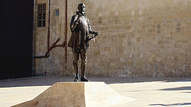 The new monument to the Grand Master in Pjazza Jean de Valette in Valletta.