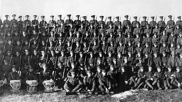 Men of the Canadian Expeditionary Force. Photo: Provincial Archives of Alberta