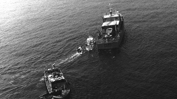 Seven men died 30 years ago aboard a patrol boat that exploded while soldiers and policemen were disposing of illegal fireworks at sea. Photos: Armed Forces of Malta