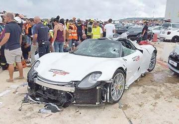 After the crash. Photo: Ian Zammit