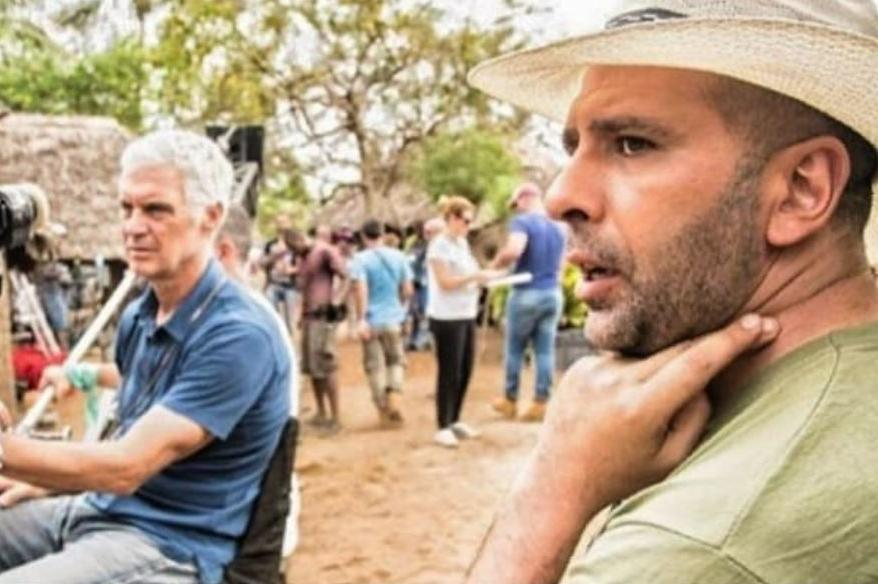 Director Checco Zalone during a 'Tolo Tolo' shoot in Kenya earlier this year. Photo: Checco Zalone/Instagram.