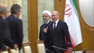 Russia, Turkey, Iran hold talks on Syria cooperation | Russian President Vladimir Putin is hosting his Iranian and Turkish counterparts.