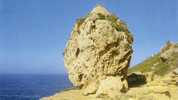 Rock formation along Malta's northwest coast.