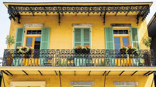Typical architecture in the French Quarter.