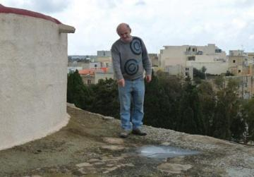 Grezzju Vella showing the location of the opening to the secret passages.