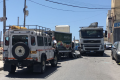 Nasty collision between two trucks in Ħandaq