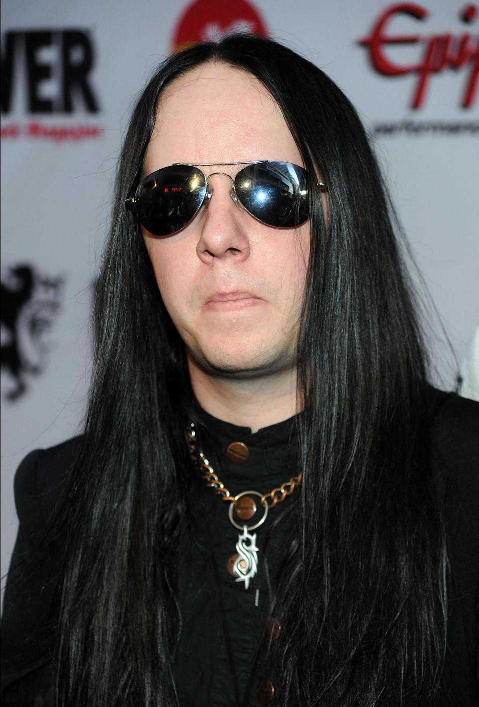 Musician Joey Jordison of Slipknot arriving at the Revolver Golden Gods Awards held at Club Nokia on April 8, 2010 in Los Angeles, California. Photo: Frazer Harrison/Getty Images via AFP
