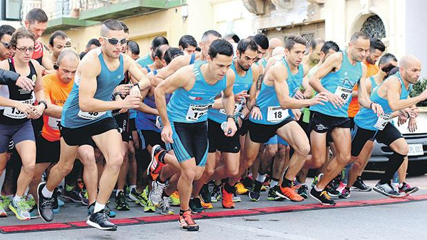 Runners set off at the start of the Birkirkara St Joseph Eurosport race, held in Fleur de Lys earlier this month. Photo: Wally Galea